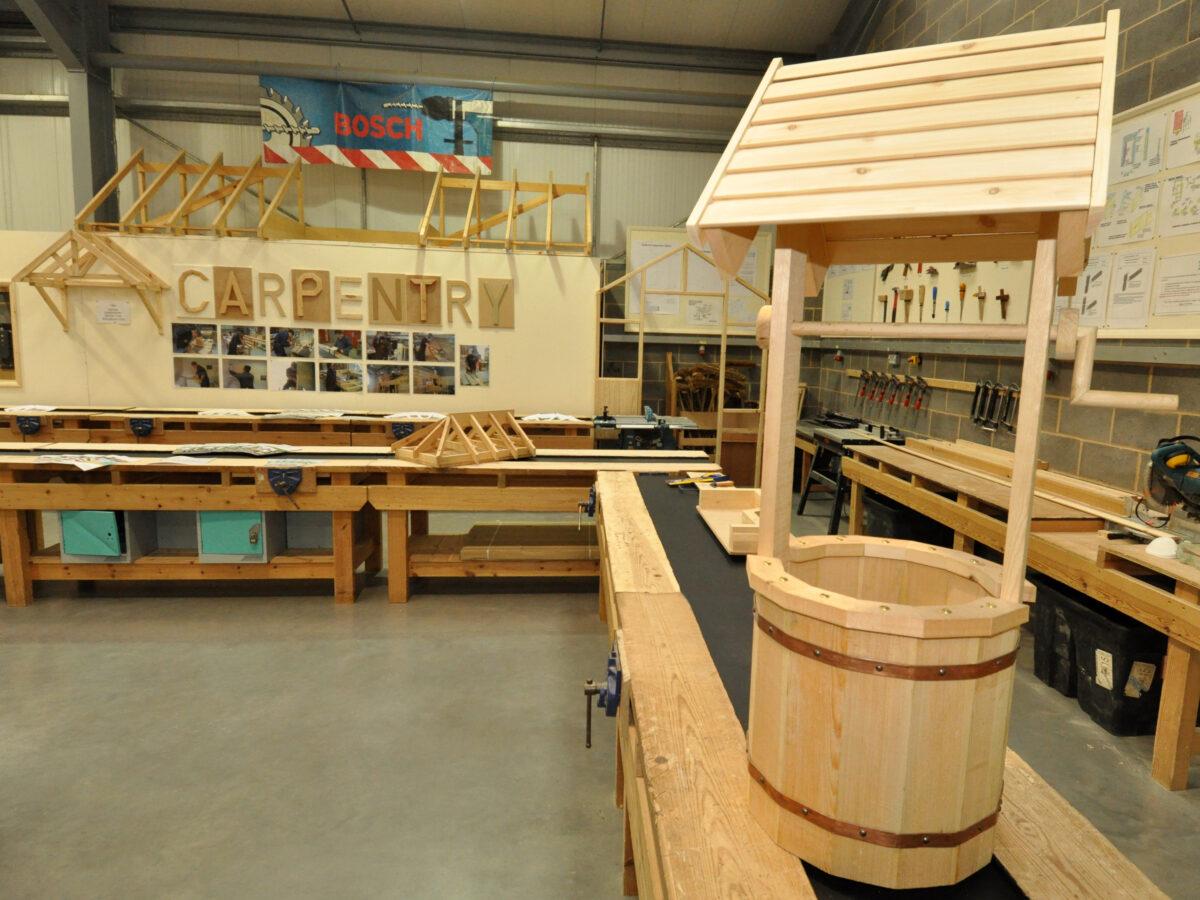 Carpentry Workshop at Higham Campus