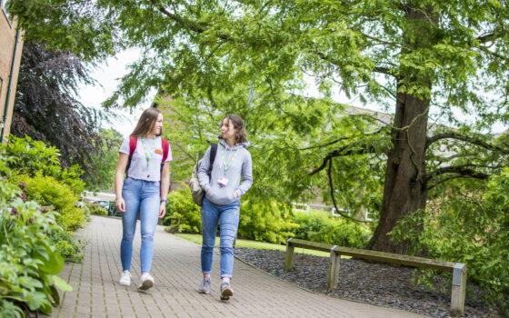 Students walking 110