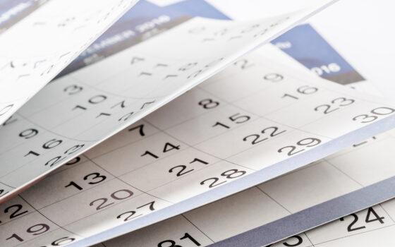 Calendar sheets image