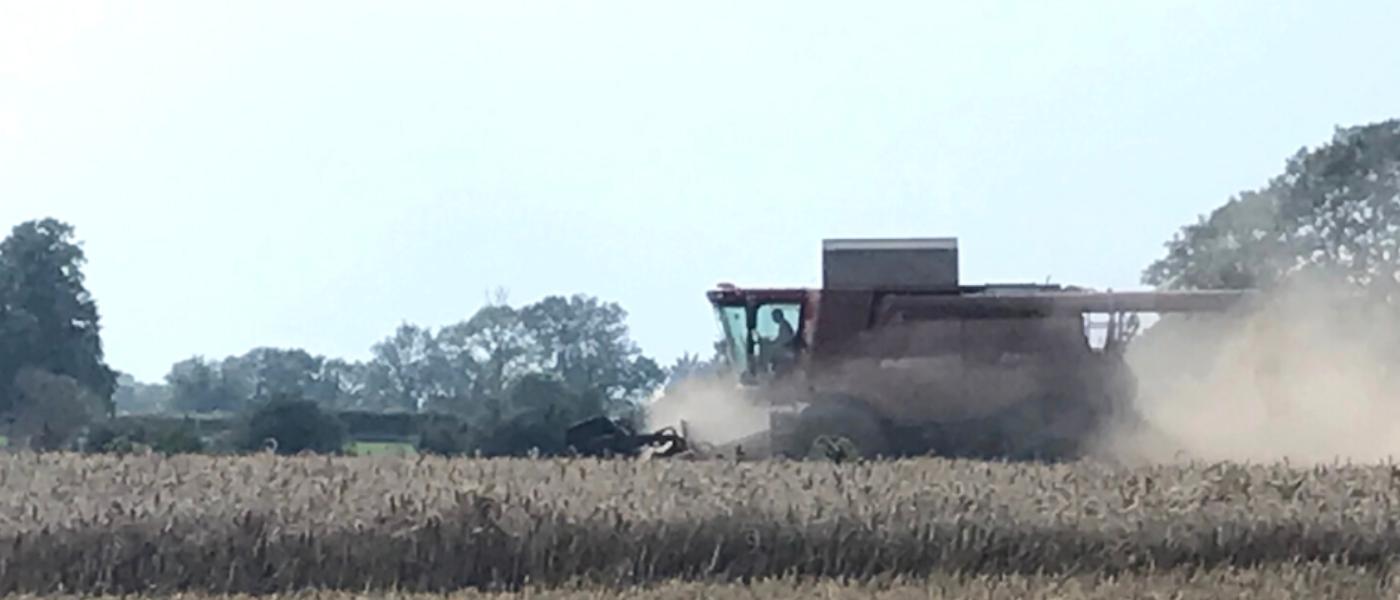 Moulton College Combine Harvester