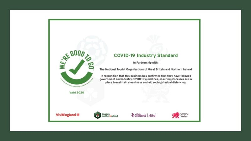 Good to Go certificate