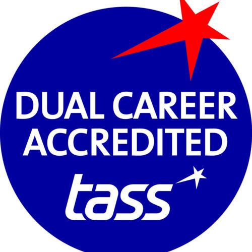 Tass Dual Career Accred BLUE Logo