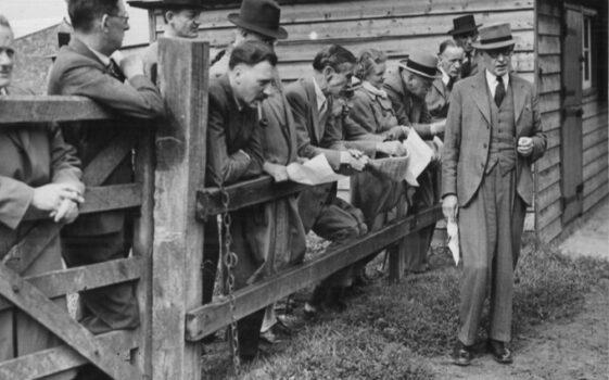 Moulton College s first Principal Mr Stewart teaching circa 1930
