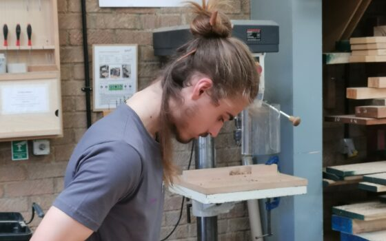 Moulton College student Ciaran works on his submission piece for World Skills UK 2021 09 20 143703 emlm