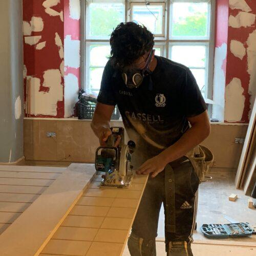 Thomas - carpentry student